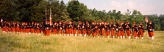 "14th Regiment (New York State Militia) - A group of 14th Brooklyn ""Red Legged Devils"" reenactors in 1999"