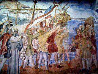 Daniel Vázquez Díaz - Frescos in La Rabida Monastery, Palos de la Frontera.