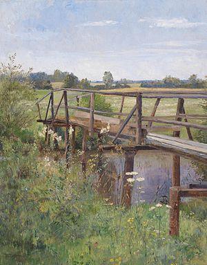 Hugo Darnaut - Image: Hugo Darnaut Sommerlandschaft mit Brücke