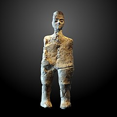 Human-shaped statue from 'Ain-Ghazal
