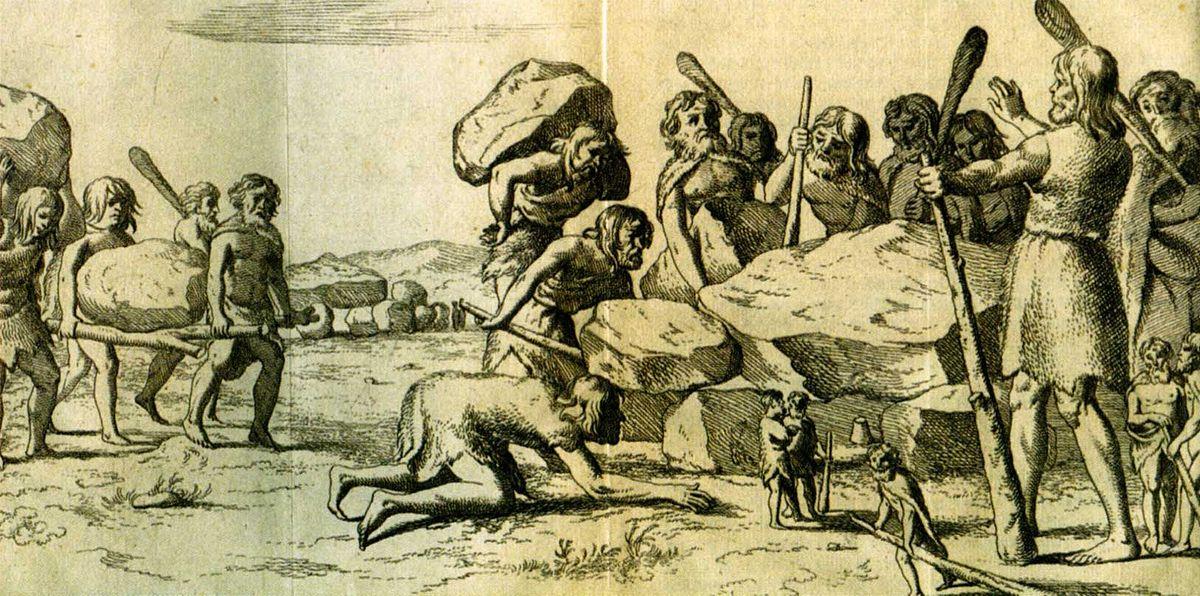 Hunebedbouwers-Annales Drenthia Picardt 1660.jpg