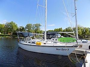 Hunter 34 - Image: Hunter 34 sailboat Wind Spirit 3 0556
