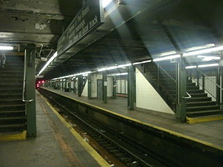 Hunts Point Avenue station New York City Subway station in the Bronx