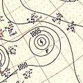 Hurricane Fox surface analysis September 8 1951.jpg
