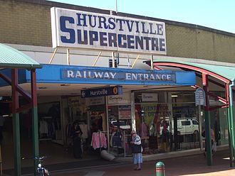 Hurstville Central - Hurstville Super Centre before it was demolished