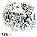 Hvetbo Herreds segl 1584.jpg