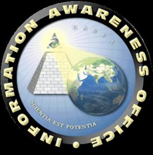 Scientia potentia est - Information Awareness Office seal with its motto scientia est potentia