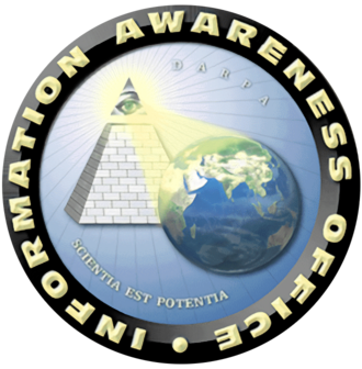 Information Awareness Office - Information Awareness Office seal  (motto: lat. scientia est potentia – knowledge is power)