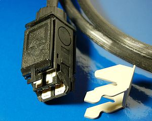 Token ring - IBM hermaphroditic connector with locking clip