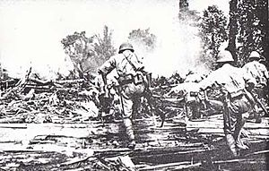 51st Division (Imperial Japanese Army) - Soldiers attacking allied defenses on New Guinea