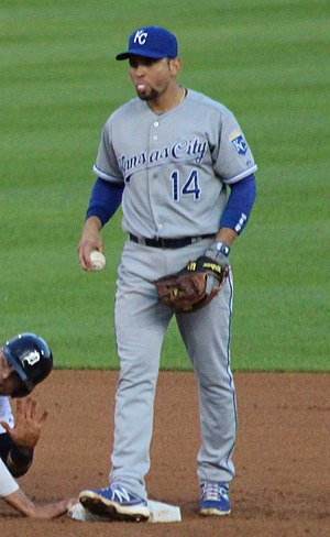 Omar Infante - Infante with the Kansas City Royals