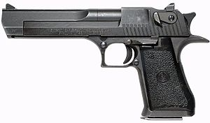 .357 Magnum - The .357 IMI Desert Eagle, one of the few semi-automatic pistols that fire the .357 Magnum cartridge.