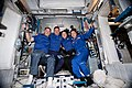 ISS-60 Four NASA astronauts pose in the Harmony module.jpg