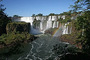 Iguazú National Park - View of a section of the waterfalls