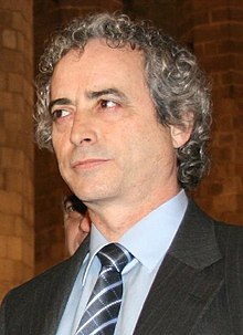 Ildefonso Falcones in the church of Santa Maria del Mar in 2008.