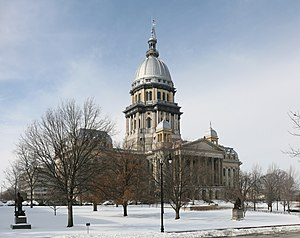 Illinois State Capitol - East façade of the Capitol from Second Street