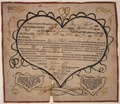 Illustrated family record (Fraktur) found in Revolutionary War Pension and Bounty-Land-Warrant Application File... - NARA - 300055.tif