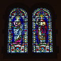 Immaculate Conception Church (Columbus, Ohio) - stained glass, Virgin Mary & Christ the King.jpg