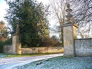 Ebrington Manor - Entrance gate piers