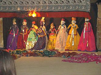 Puppet - A Kathputli show in Mandawa, Rajasthan, India