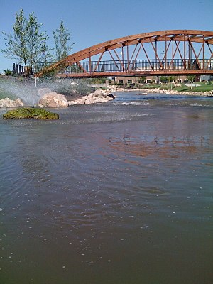 Caldwell, Idaho - Part of the renovated Indian Creek in downtown Caldwell, Idaho