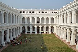 Indian Museum Building with Quadrangle - Inside North View - Indian Museum - Kolkata 2014-02-14 9248.JPG