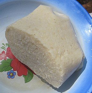 Garri - Garri on a plate in Cameroon