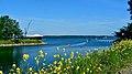 Industriekai Flensburg mit Blick auf die Flensburger Förde und l. FSG (Werft) www.fleno.de - panoramio.jpg