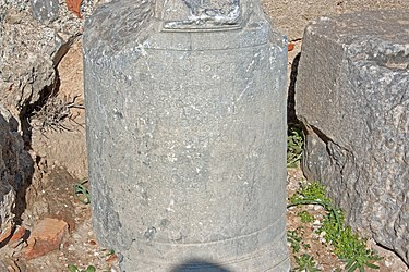 Inscribed artifact near acropolis of Lindos church 2010.jpg