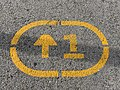 Inscription Sol Vélopolitain Ligne 1 Avenue Porte Vincennes - Paris XX (FR75) - 2020-10-26 - 3.jpg