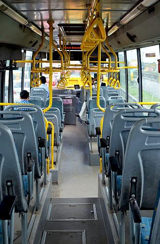Kerala Urban Road Transport Corporation - Image: Inside Bus W