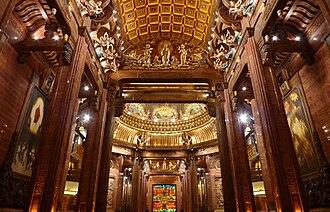 Grand Buddha at Ling Shan - Image: Inside Ling Shan Brahma Palace