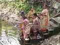 Inviting Goddess Ganga - Hindu Sacred Thread Ceremony - Simurali 2009-04-05 4050066.JPG
