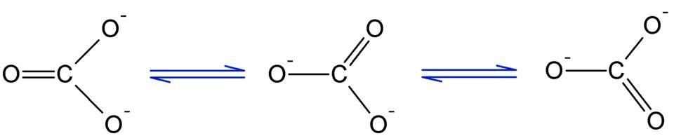 Resonancia del ion carbonatu