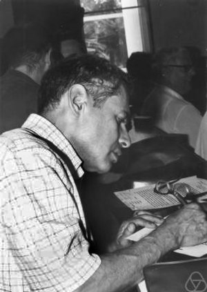 Irving Segal - Irving Segal in Nice, 1970