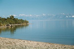 Issyk-Kul - Southern shore of Issyk-Kul Lake