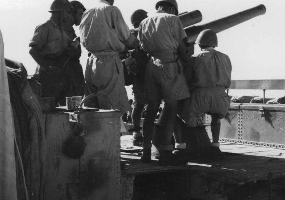 Italian anti-aircraft battery at Marsa Matrouh in the summer of 1942
