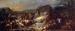 Athletics in epic poetry - The Funeral Games of Patroclus is a 1778 fresco by Jacques-Louis David. It shows the funeral games for Patroclus during Trojan War.