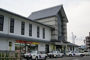 Kaminoyama-Onsen Station - Kaminoyama-Onsen Station in August 2007