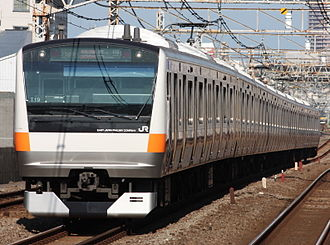 E233 series - Chuo Line 10-car set T19 in August 2009