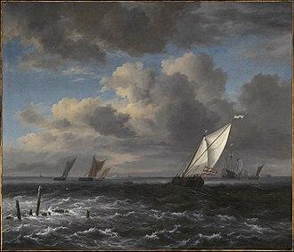 Rough Sea at a Jetty - Image: Jacob van Ruisdael Rough Sea MFA 57.4