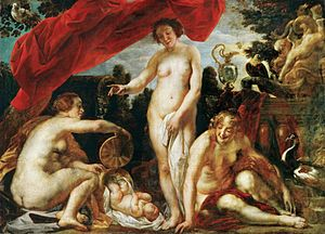 Pandrosus - Daughters of Kekrops Finding Erichthonios by Jacob Jordaens (1640)