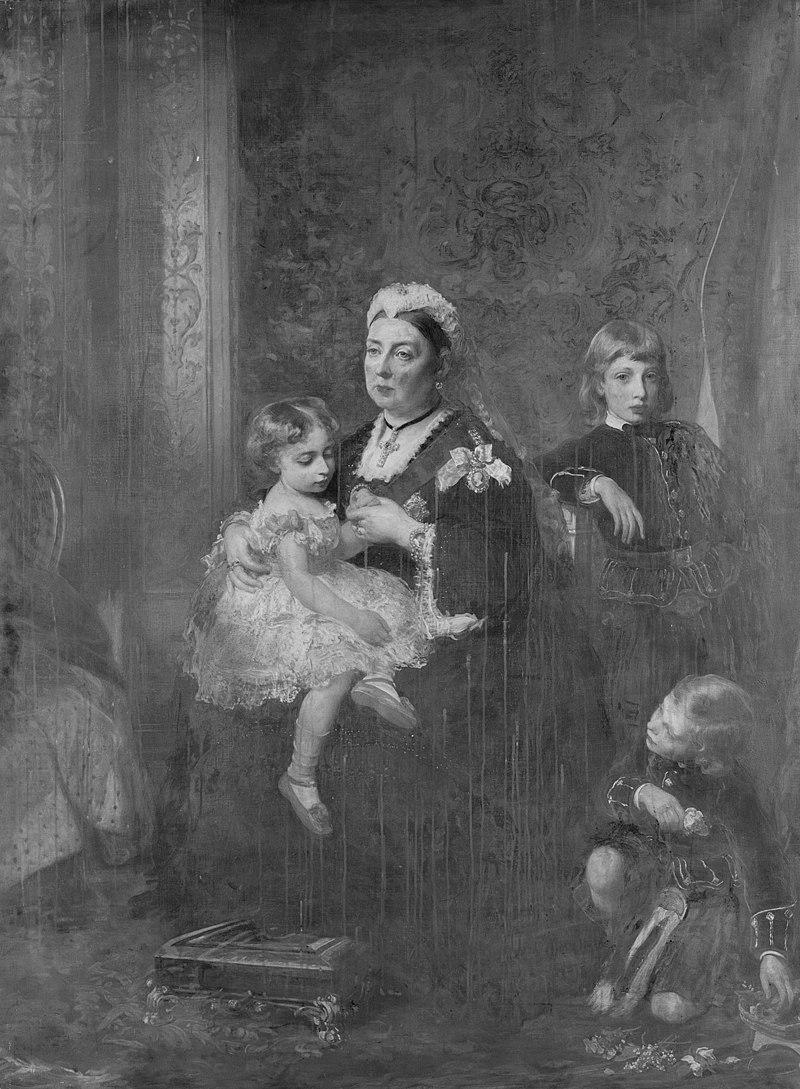 James Sant (1820-1916) - Queen Victoria with three grandchildren - RCIN 406763 - Royal Collection.jpg