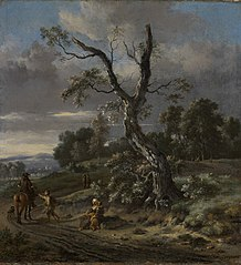 Hilly Landscape with a Beggar Family