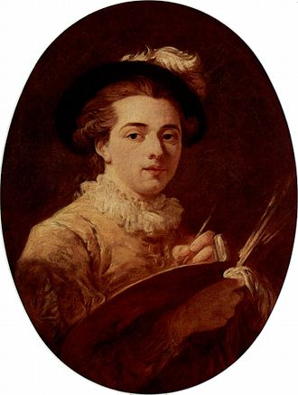 Jean-Honoré Fragonard - From a self-portrait, at the Musée Fragonard, Grasse