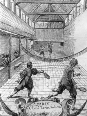 Jeu de paume - Jeu de paume in the 17th century.