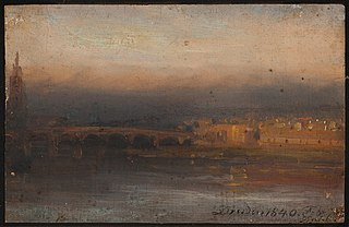 The Elbe in the Evening