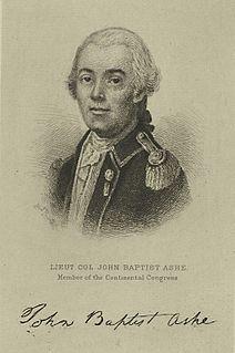 John Baptista Ashe (Continental Congress) American politician (1748-1802)