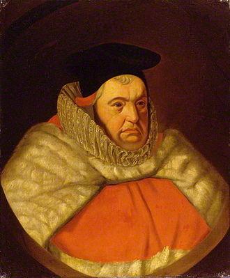 John Doddridge - Sir John Doddridge (1555–1628), Justice of the King's Bench, wearing his judicial robes. National Portrait Gallery, London, NPG 539