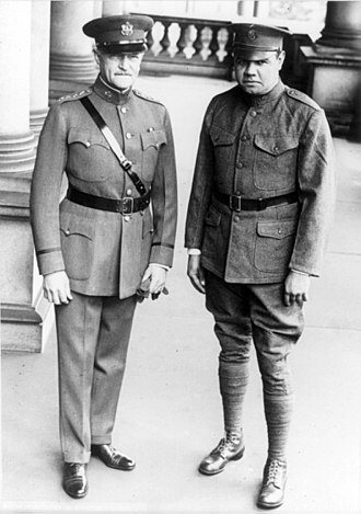 New York Guard - General Pershing and Private Ruth in Washington, 1924